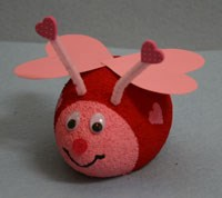 Styrofoam Lovebug Craft