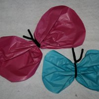 Tissue Paper Butterfly Craft