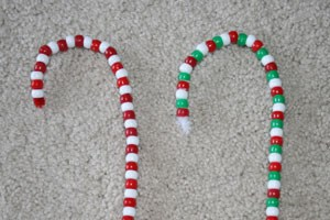 Bead Candy Cane Ornament