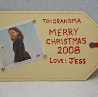 Christmas Tag Picture Frame Craft