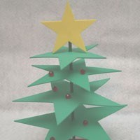 Foam Star Christmas Tree Craft