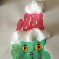 Handprint Grinch Craft