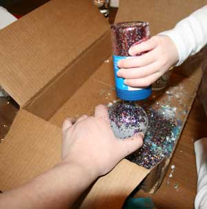 christmas ornaments glitter