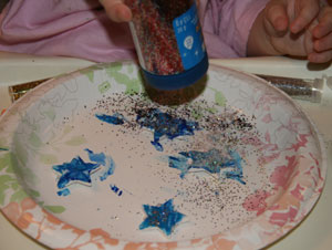 christmas star glitter craft