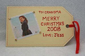 homemade present tag