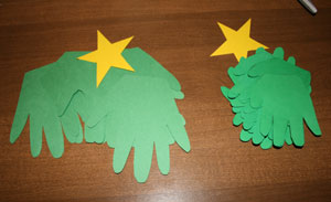 handprint christmas tree craft supplies