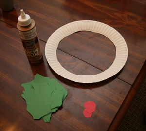 holly wreath craft supplies