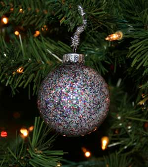 homemade glitter ornament