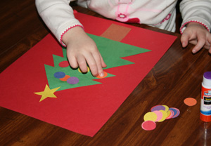preschool christmas tree craft