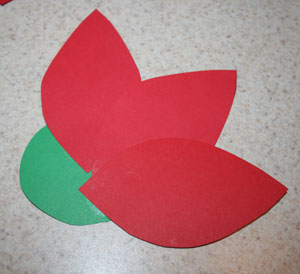paper poinsettia step one