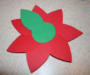 paper poinsettia step two
