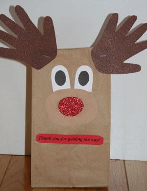 Paper bag reindeer savvy teaching tips.