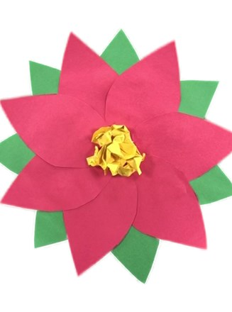Paper Poinsettia Craft All Kids Network