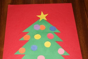 Shape Christmas Tree Craft