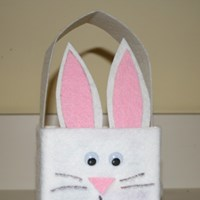 Milk Carton Easter Bunny Basket Craft