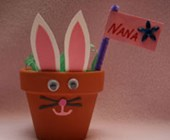 Easter Bunny Place Card Holder Craft