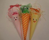 Bunny, Carrot, and Chick Easter Cones