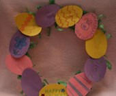 Easter Egg Wreath Craft