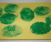 Easter Egg Sponge Paint Craft