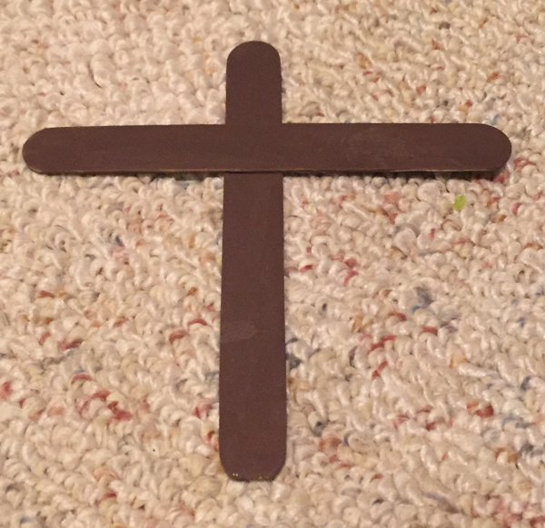 easter cross craft step 2