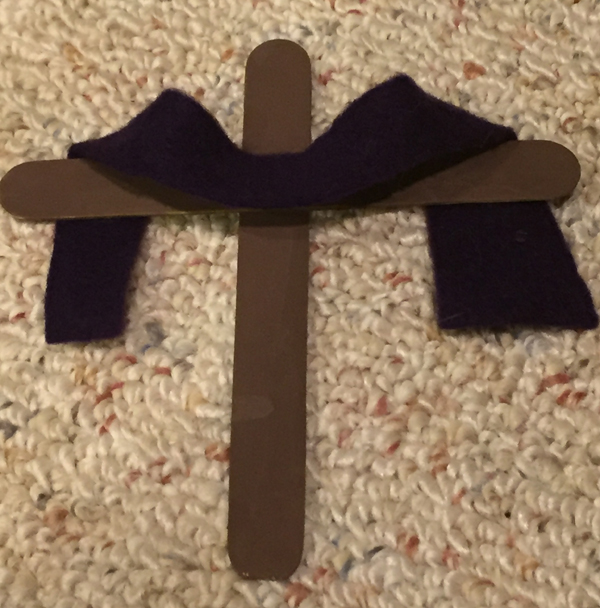 easter cross craft step 5