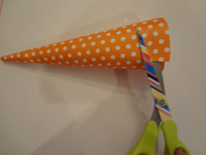 easter cones craft step 2