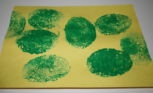 easter egg sponge painting craft