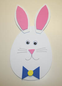 foam egg bunny craft
