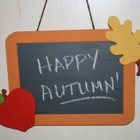 Fall Chalkboard Craft