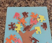 Autumn Puzzle Tree Craft