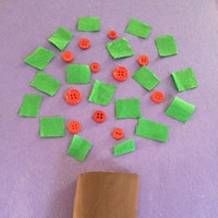 Button Apple Tree Craft