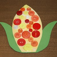 Button Indian Corn Craft