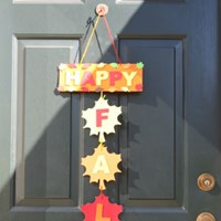 Fall Door Hanger Craft