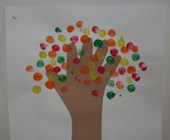 Fall Fingerprint Tree Craft