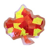Tissue Paper Fall Leaf Craft