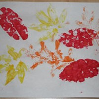 Fall Leaf Print Craft