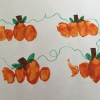 Handprint Pumpkin Patch Craft