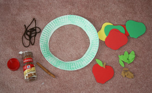 apple wreath supplies