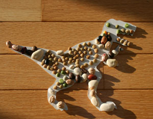 bean dinosaur craft