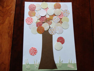 falling leaves paper tree craft
