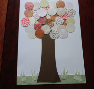 paper tree collage