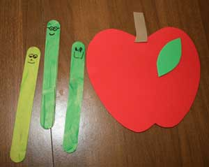 back to school apple craft