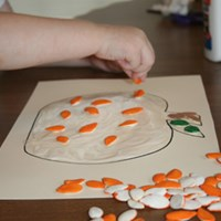 Pumpkin Seed Pumpkin Fall Craft