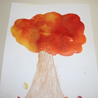 Sand Fall Tree Craft