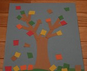Scissor Skills Fall Tree Craft