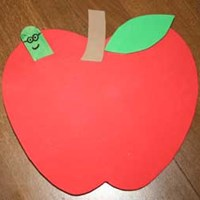 Peek-a-boo Apple Craft