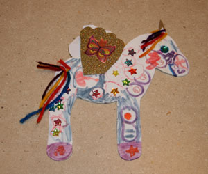 finished unicorn craft one