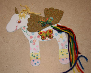 finished unicorn craft two