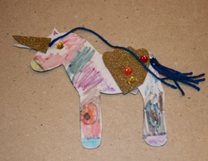 finished unicorn craft three
