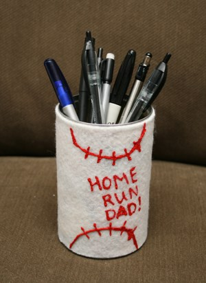 Father's Day Baseball Pen Holder Craft